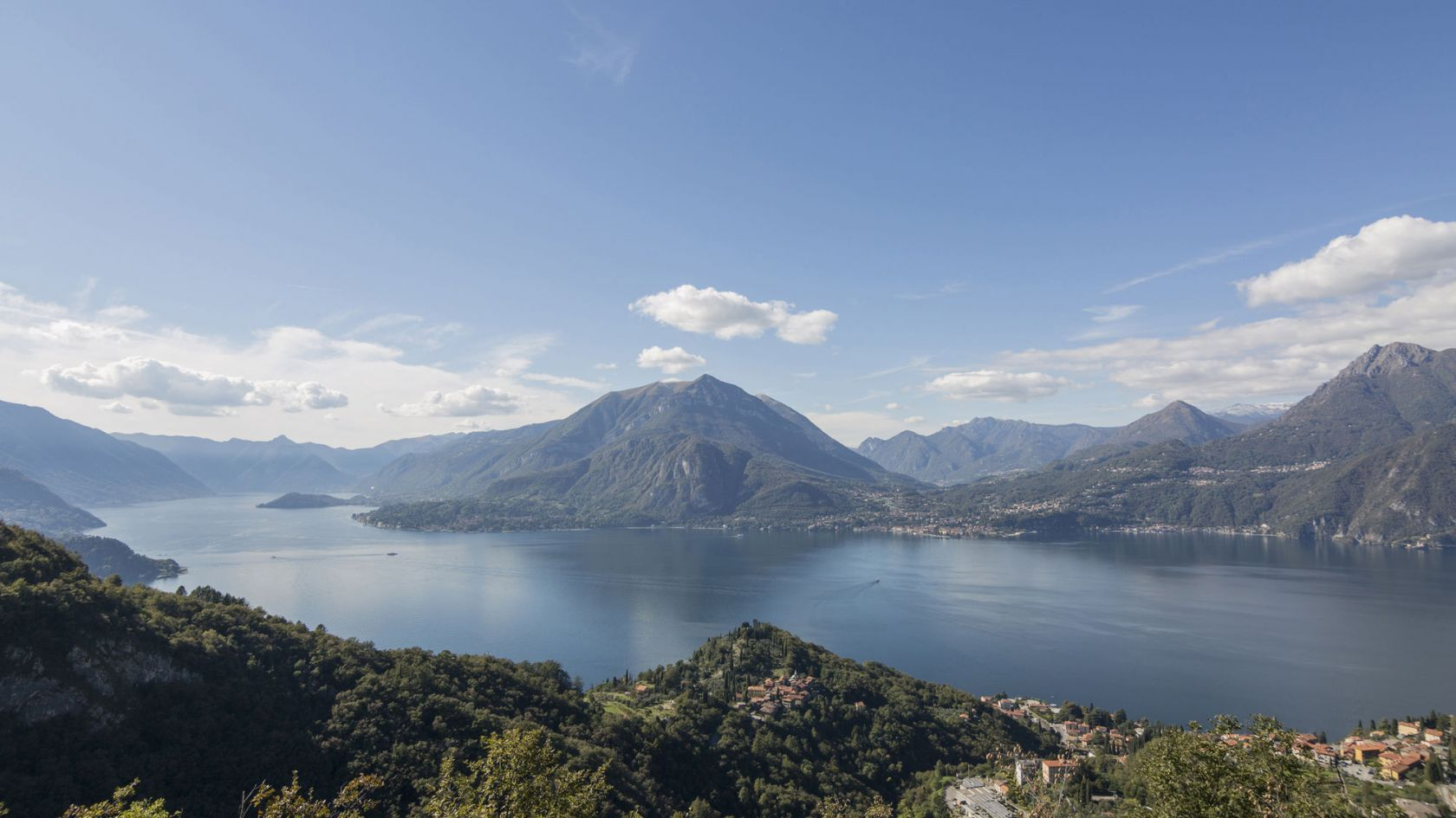 Lake Como view from the villa