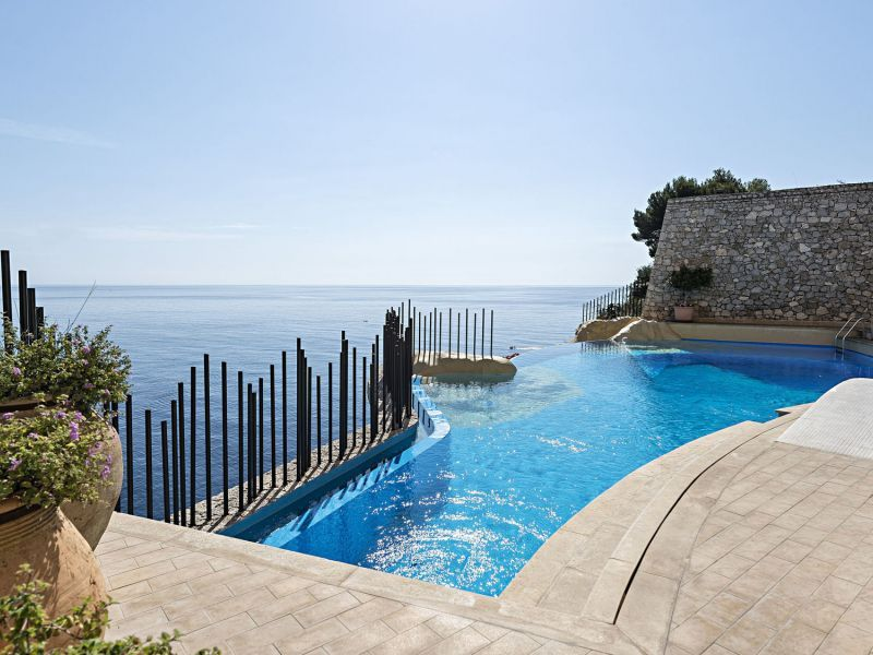 Infinity pool with ionian sea view
